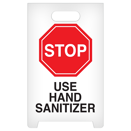 A-Frame Standing Floor Sign - STOP - Use Hand Sanitizer