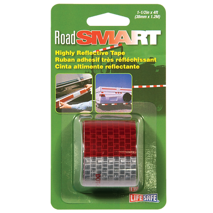 "Road Smart DOT-C2 Reflective Tape 1.5"" x 4ft"