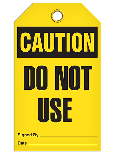 CAUTION - Do Not Use