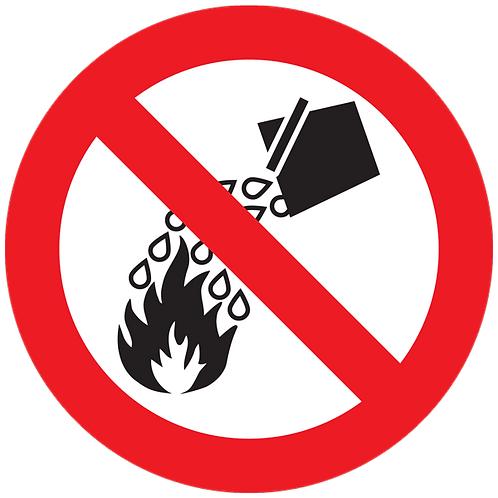 Prohibited - Do Not Extinguish With Water