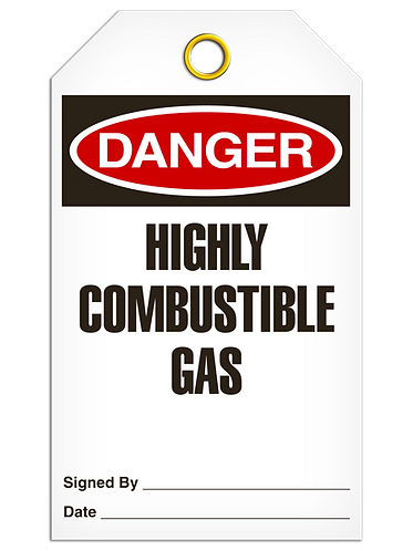 DANGER  -  Highly Combustable Gas