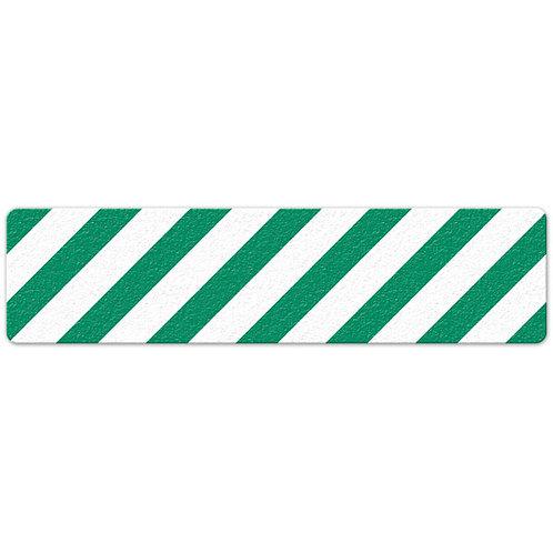 Green/White Hazard Stripe Floor Sign