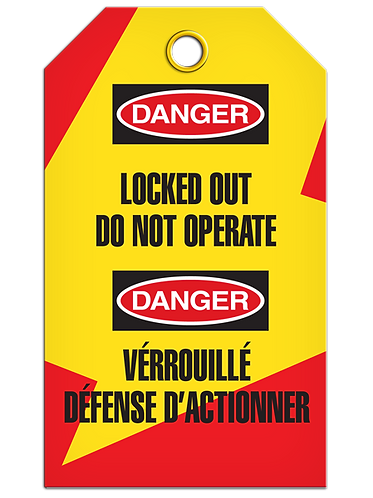 Bilingual LOCKOUT - Locked Out Do Not Operate