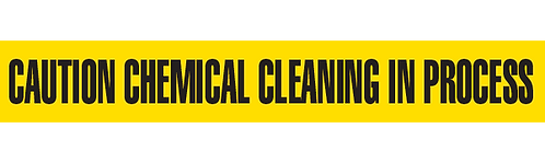 CAUTION CHEMICAL CLEANING IN PROCESS