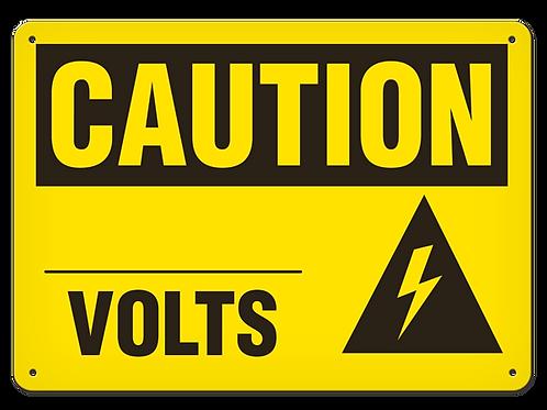 Caution - __ Volts