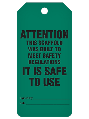 INSPECTION Tag Roll  -  Scaffold Safe To Use