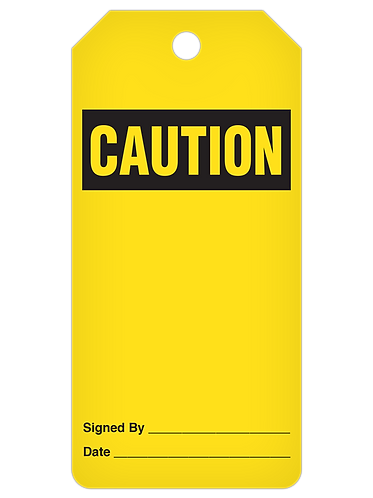 CAUTION Tag Roll  -  Blank