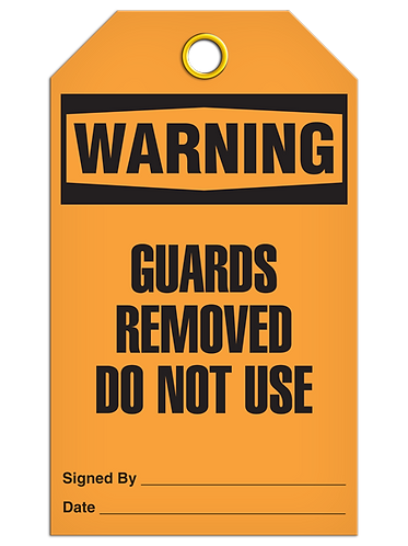 WARNING - Guards Removed Do Not Use