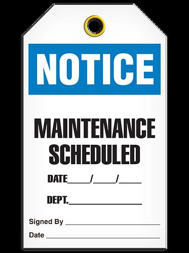 NOTICE - Maintenance Scheduled