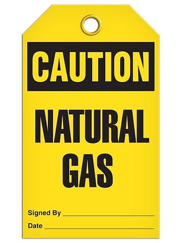 CAUTION - Natural Gas