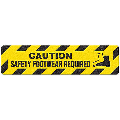 Caution - Safety Footwear Required Floor Sign