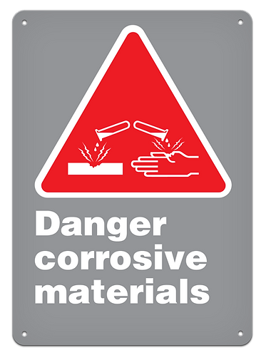 DANGER - Danger Corrosive Materials