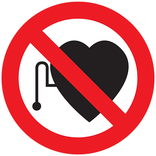 Prohibited - No Pacemaker Wearers