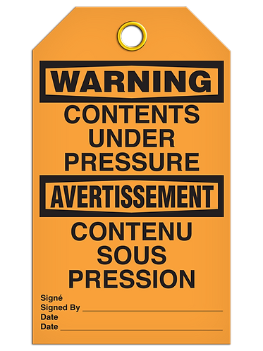 Bilingual WARNING - CONTENTS UNDER PRESSURE