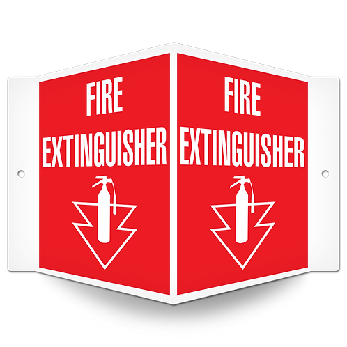 FIRE SIGNS - Fire Extinguisher (Projected Sign)