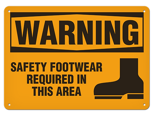 WARNING - Safety Footwear Required In This Area