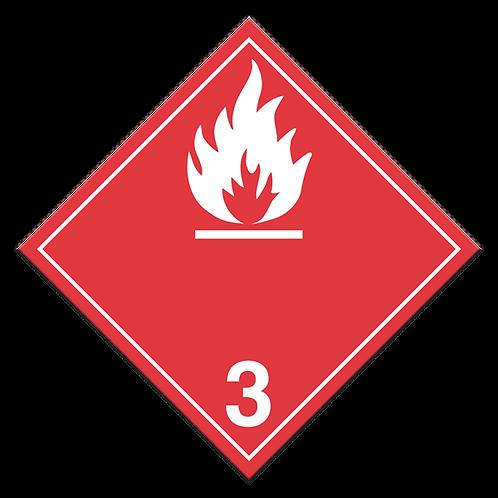 Class 3 - Flammable Liquids Truck Placards