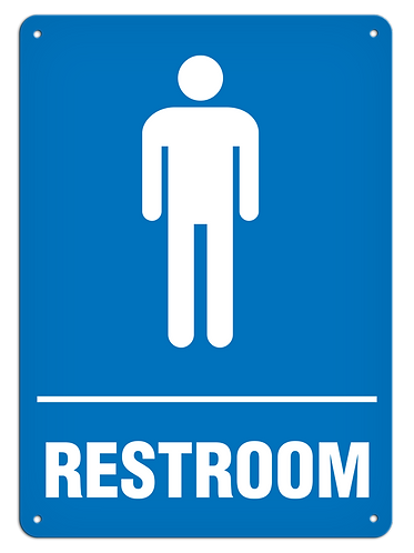 Restroom Male Sign