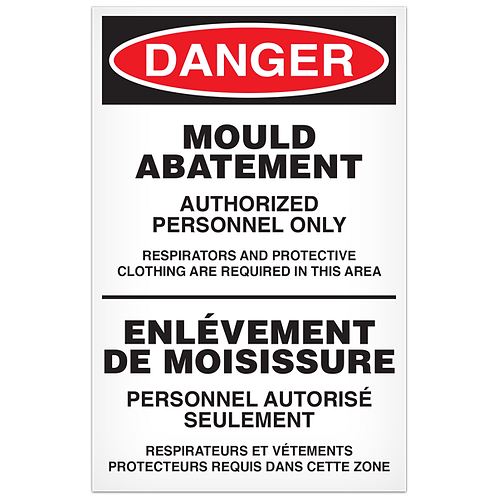 DANGER - Mould Abatement English/French