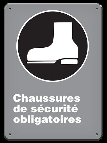 OBLIGATOIRE - Chaussures de sécurité obligatoires