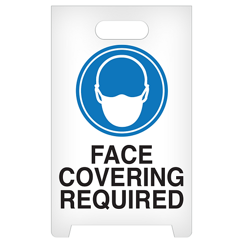 A-Frame Standing Floor Sign - Face Covering Required