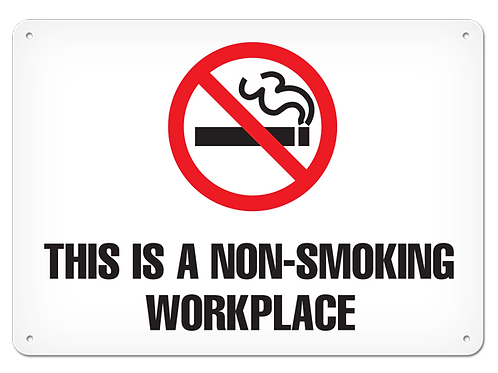 Non-Smoking Workplace Sign