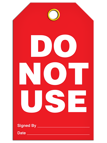 Inspection  -  Do Not To Use
