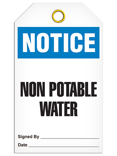 NOTICE - Non Potable Water