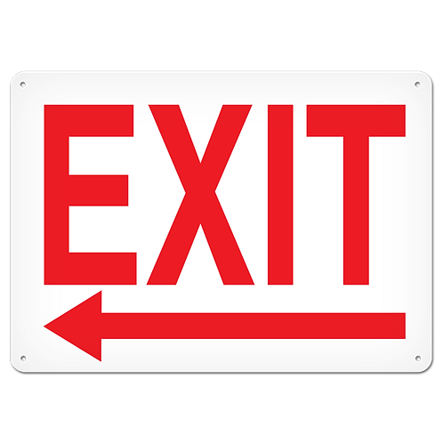 FIRE SIGNS - Exit (Left Arrow)