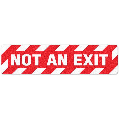No An Exit Floor Sign