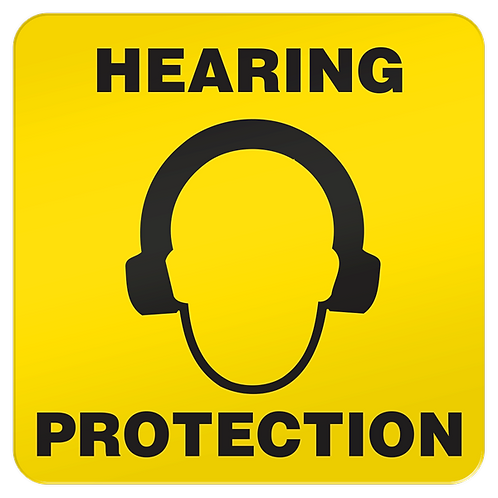 Hearing Protection Floor Sign