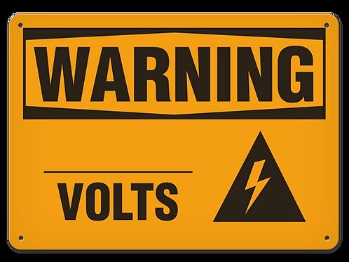 WARNING - ___ Volts