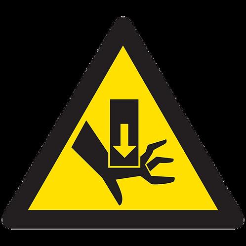 WARNING - Crushing Force From Above Hazard