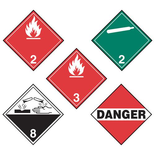 Incom Manufacturing Flip Placards Transportation Of Dangerous Goods