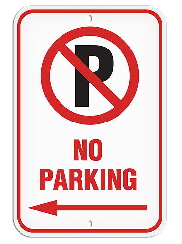 PARKING LOT SIGN - No Parking