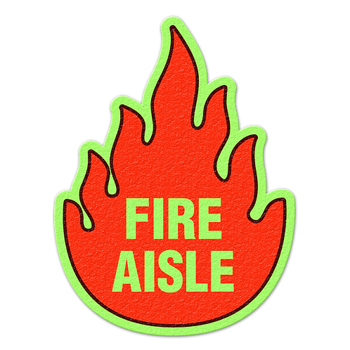 Fire Aisle Glow Floor Sign