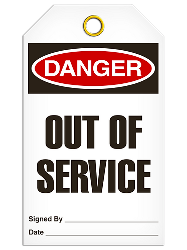 DANGER - Out Of Service