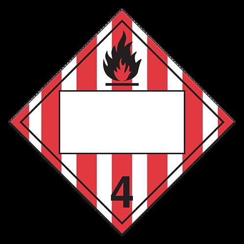 Class 4.1 - Flammable Solids
