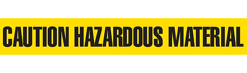 CAUTION HAZARDOUS MATERIAL