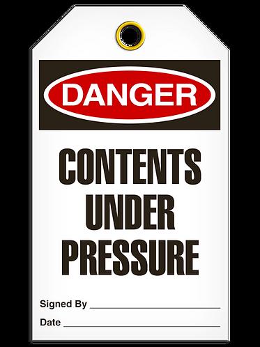 DANGER  -  Contents Under Pressure