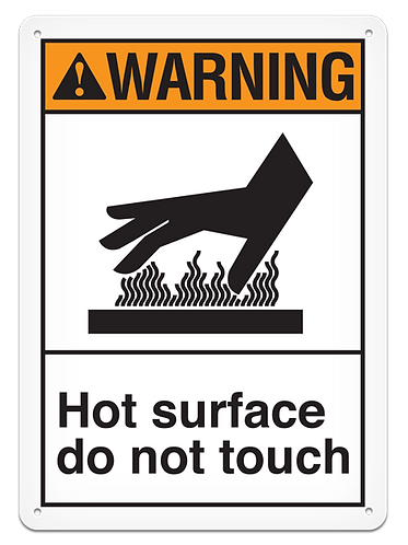 WARNING - Hot Surface Do Not Touch