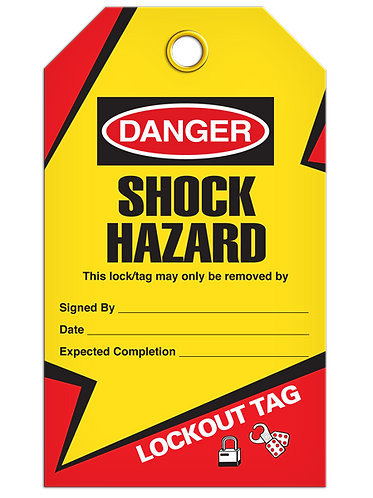 LOCKOUT TAG - Shock Hazard