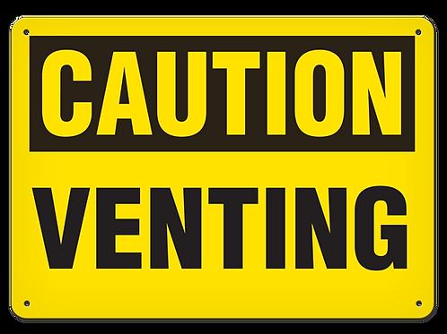 Caution - Venting