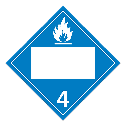 Class 4 - Water Reactive Substances