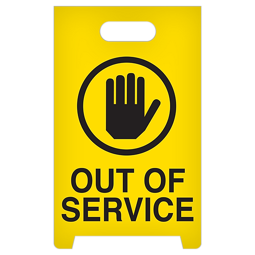 A-Frame Standing Floor Sign - Out Of Service