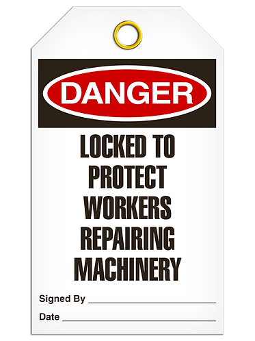 DANGER - Locked To Protect Workers Repairing Machinery