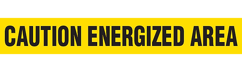 CAUTION ENERGIZED AREA