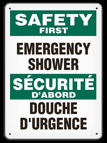 BILINGUAL SAFETY FIRST - Emergency Shower