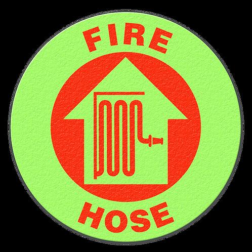 Fire Hose Glow Floor Sign