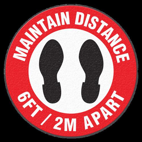 Maintain Distance - 6FT - 2M Apart Floor Sign